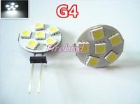 6 x G4 1W round led bulb, DC/AC12V white and warm white reading lights, spotlights, free shipping