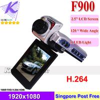 Car DVR Box F900LHD Reverse Car Dash Cameras Novatek 1080P H.264 Video Night Vision HDMI F900-B DropShipping SG Post Free Ship