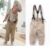 Wholesale 5sets/lot 2013 new style cotton baby boy summer suits t-shirt and pants 2pcs clothing set