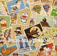Wholesale - Free Shipping ! 6 kinds of  Vintage style poster Drawing post card set/ gift cards/Postcard Gift/ ect