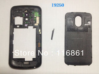 30PCS EMS Free shipping Hot Sell Galaxy Nexus i9250 Housing Cover Case back frame+battery door cover Original black
