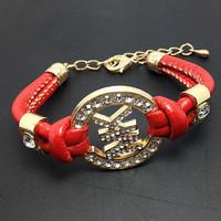 2013 Belt letter  punk fashion leopard print new bracelet bangle Leather+Free shipping