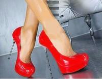Ultrafine 14 cm waterproof table 14 cm high heels on the new metal high heels