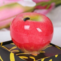 free shipping Christmas gift ,Red and green apple candle,art Candle in Box,wedding gift 12pcs/lot(China (Mainland))