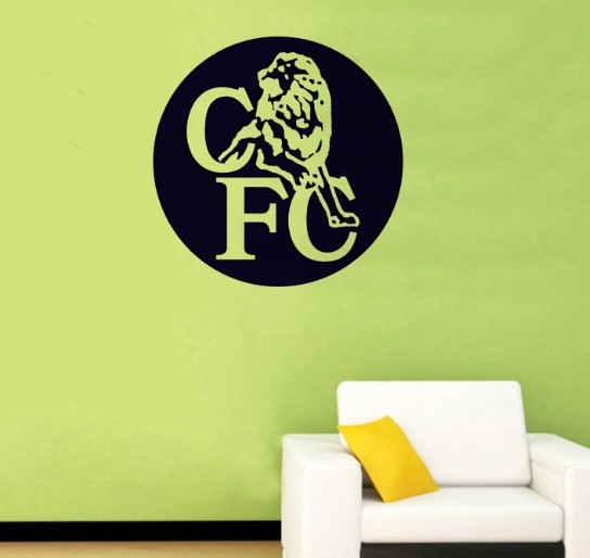 Free Shipping--Chelsea Football Club Vinyl Wall Art Decor Decal Sticker Mural Football Club(China (Mainland))