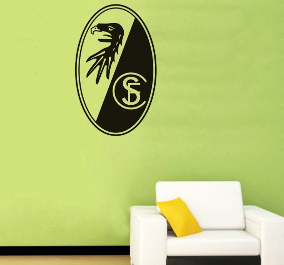 Free Shipping--SC Freiburg Vinyl Wall Art Decor Decal Sticker Mural Football Club(China (Mainland))