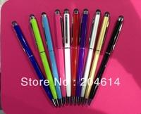 2 in 1 Touch Screen Stylus With Gel Ink Pen , Stylus Pen For IPhone 4G 3G Stylus Touch Pen For IPod For IPad 500pcs/lot