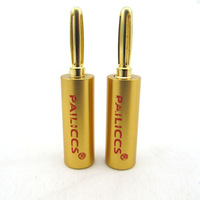 Pailiccs 24K Gold Plated Banana Speaker Plug