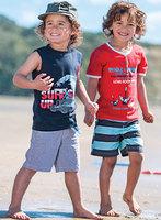 2013New 2 - piece suits male beach leisure cotton suit T-shirt + pants beach fashion suits for children,wholesale free shipping