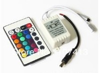 Led 24 key infrared controller 5050 rgb led strip with lights colorful module light box drive 12