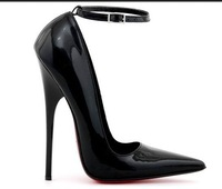 2013 with 13 cm high ultrafine sexy high heels for women's shoes single 13 cm point red bottom shoes high heels