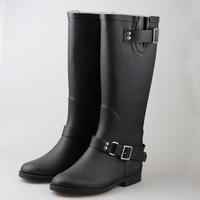 Hugfee fabric fashion rainboots female gaotong rainboots rain shoes zipper style