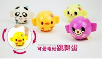 Free Shipping 10pcs/lot Novelty Battery Operated Dancing Eggs, Cute Electronic Little Animals Pet Toys For Children