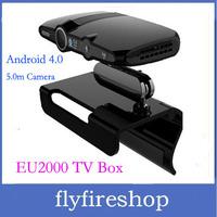 EU2000 5.0MP and Mic Android TV Box camera HDMI 1080P RAM 1GB ROM 8GB android 4.0.4 skype Google Android TV box Free Shipping