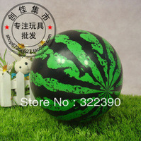 Free shipping Eco-friendly child children inflatable rubber soft baby toy watermelon green ball summer