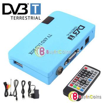 Digital TV Box LCD VGA/AV Tuner DVB-T FreeView Receiver [2611|01|01]
