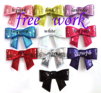 "3"" small sequin  bows, baby hair bows, 10color in stock, 200pcs/lot, free shipping by EMS"