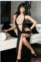 Underwear Lingerie Babydoll  Lady's Sleep Spaghetti Strap Silk Silk Lace Set Of Women Sexy Black Lingerie Dress G-String  Yk643