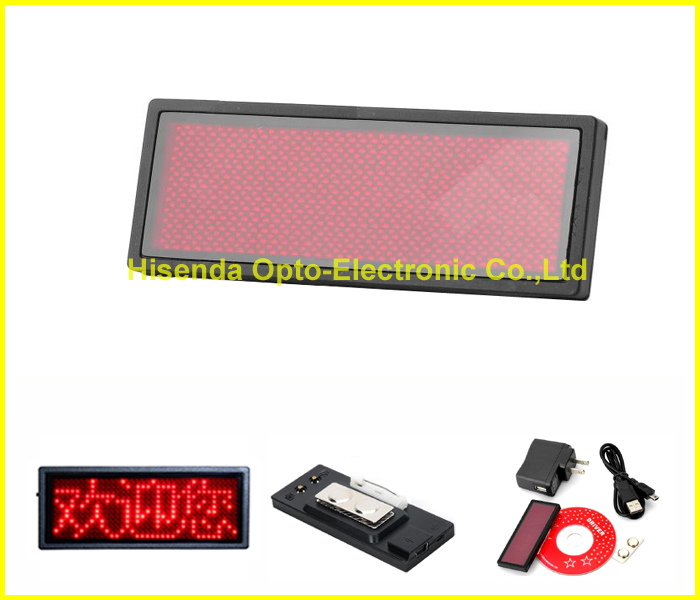 Free shipping 5PCS/LOT Support Russian Programmable LED name badge, led scrolling tag B1236TR(China (Mainland))