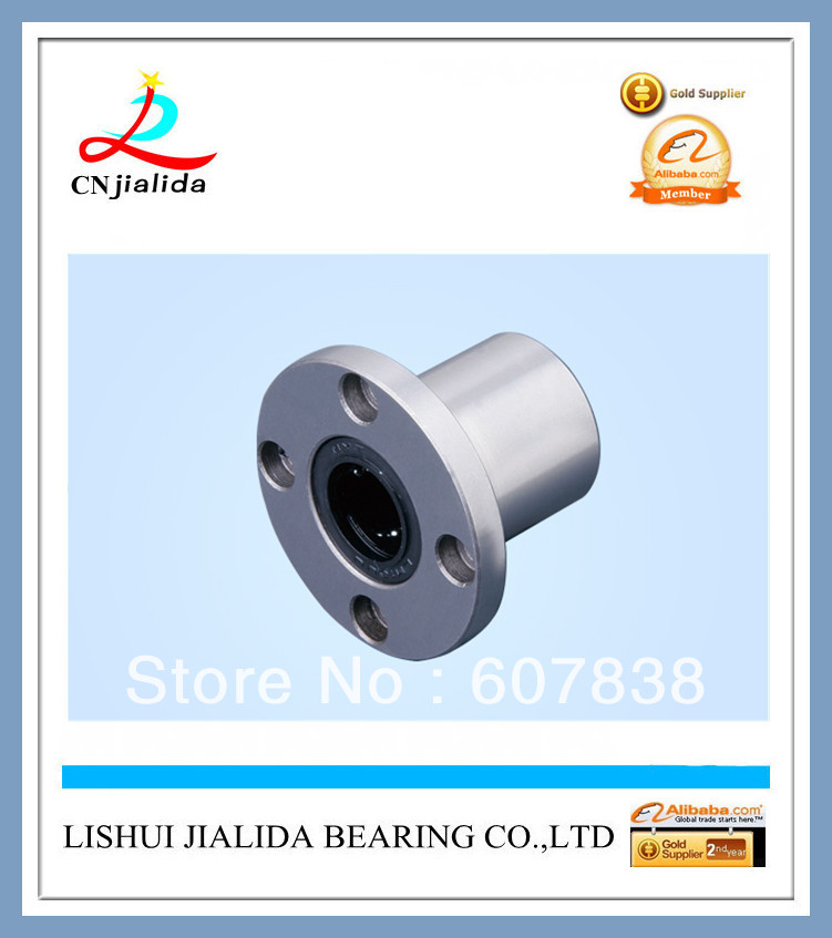 Free Shipping (100pcs/lot) Professional Manufacturer JLD Flange Linear Bearing LMF10UU LM Series 10*19*29mm Linear Bushing(China (Mainland))