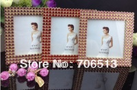 "Free shipping(10pcs/lot) wholesale fashion Pearl 4"" alloy bling photo frame"