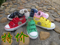 Velcro canvas shoes male shoes girls , vulcanized shoes single shoes 23 - 35 big