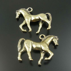 10pcs Antiqued Style Bronze Alloy Lively Horse Fortune Pendant Charm(China (Mainland))