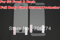 For iphone 5 screen protector  Full Body Front+Back Clear screen protective cover without retail package