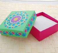 Free Shipping Wholesale 24pcs/lot 8x8x3.5cm Flower Jewelry Box Bracelet/Necklace Box Gift Box