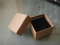 Free Shipping Wholesale 24pcs/lot 5x5x3.8cm Kraft Paper Box Ring Box Jewelry Box