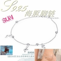 925 pure silver dolphin anklets fashion princess personalized leglet birthday gift