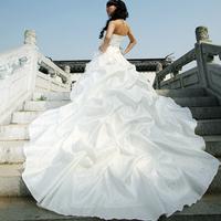 2012 wedding formal dress long design sweet elegant the big train wedding dress h6661
