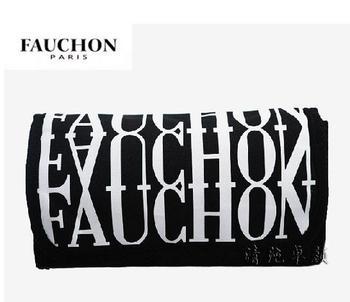Free shipping 035 pure fashion black white letter bag cosmetic bag storage bag women's day clutch handbag