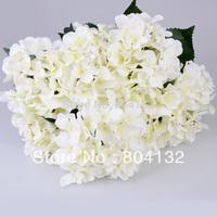 "4pcs/lot 55CM/21.65"" European Retro Style Silk Artificial Hydrangea Flower Bouquet 7 Stems Wedding Christrmas Home Decorations"