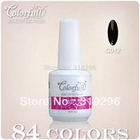 Big Discount ! Hot Brands 24 Pcs/lot 84 Colors 15ml Nail Art Candy Color Soak off UV Gel Nail Polish Glitter