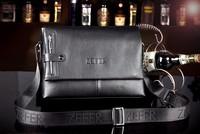 2013 new arrival fashion men's bag leather, men messenger bag, high quality brand design business shoulder bag MB28