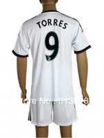 free shipping new 13-14 Chelsea #9 TORRES  white  soccer jersey  away  fashion  soccer uniforms jerseys cheap hot sell