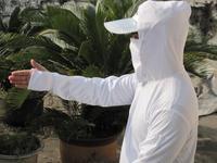 Bottom price ! Free shipping anti-UV fishing shirts  quick-drying hoodie breathable long-sleeve face mask plus size white unisex