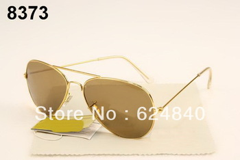 Gold 3025 sun glass men/women sun glasses reflective sunglasses sunglass with box.tag..