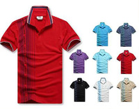 2013 new arrival men summer fashion brand left line printing short sleeve polo T-shirt polos Tee shirts free shipping
