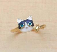 Christmas Gift Swept the world New Kitten fashion personality Drip Glaze ring (Min order $ 5)