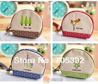 Garden series embroid coin bag, Fabric Key bags, Novelty items, Wholesale,  Good quality (ss-4911)