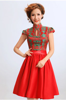 2013 cheongsam dress short design the bride married cheongsam costume