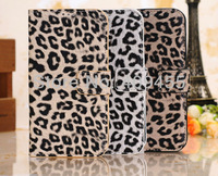 High quality Leopard print wallet case phone cover for samsung I9300 Galaxy SIII free shipping