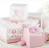Free shipping pink wedding favour candy boxes candy gift boxes wedding candy box 100pcs/lot