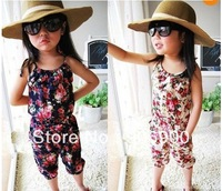 NWT Girls Kids S2-8Y Toddler Jumpsuit Short Playsuit Clothing One-piece Costume