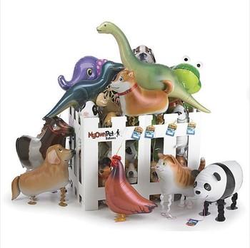 50 PCS/lot  Hybrid models of animal balloons, aluminum foil balloon animals, walking pet balloons children's toys Free Shipping