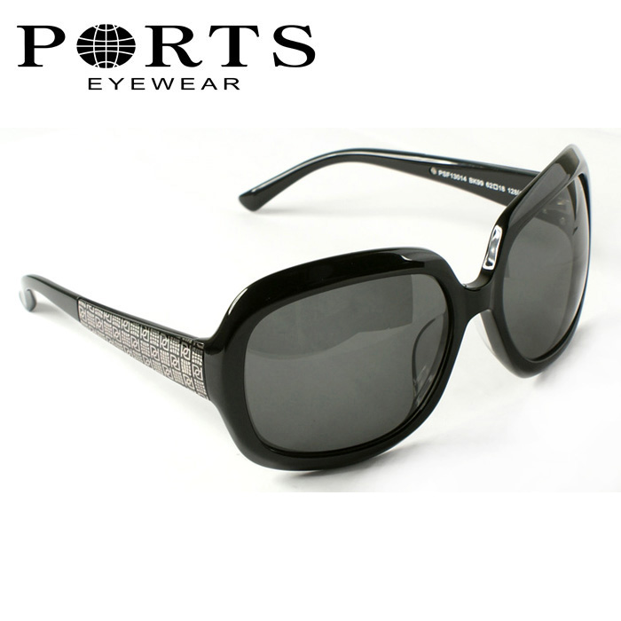 Ports ports black oversized elegant women&#39;s sunglasses full frame plate frame psf13014(China (Mainland))