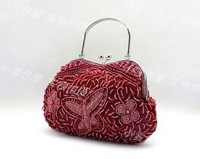 Candy color bow handmade beaded bag xc0227 beaded bridal bag formal dress cheongsam female bags