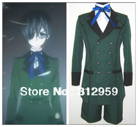 Freeshipping Black Butler kuroshitsuji Ciel Phantomhive Cosplay Costume halloween party